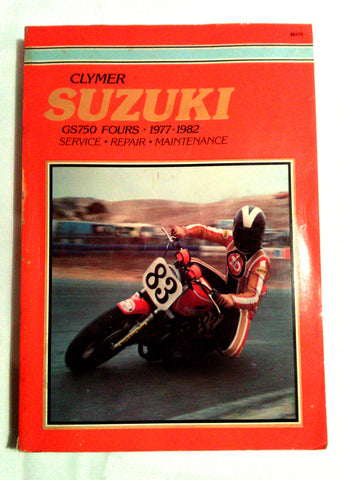 Clymer Suzuki GS750 Fours 1977-1982 Service Repair Maintenance Softcover Book - Paperink Graphics