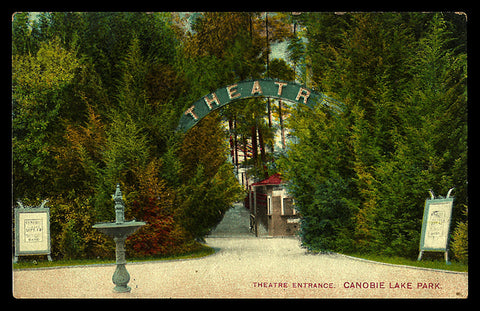 Canobie Lake Park Postcard 1910 New Hampshire Londonderry Theatre Entrance NH PC