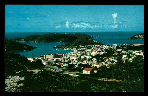 Charlotte Amalie Postcard Virgin Islands from Rapune Hill St Thomas VI PC