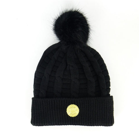 CAPITAL GAINS CABLE BEANIE - BLACK