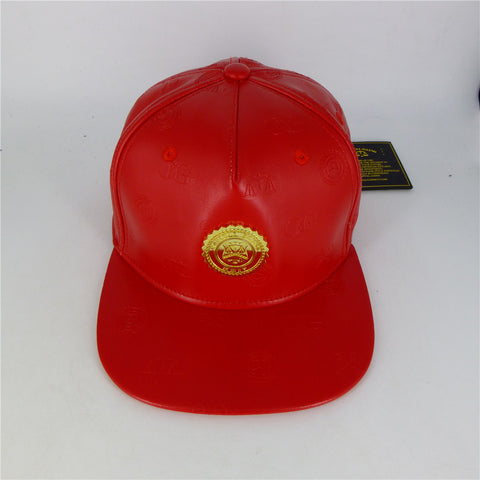 Monogram Stamp Cap - Red