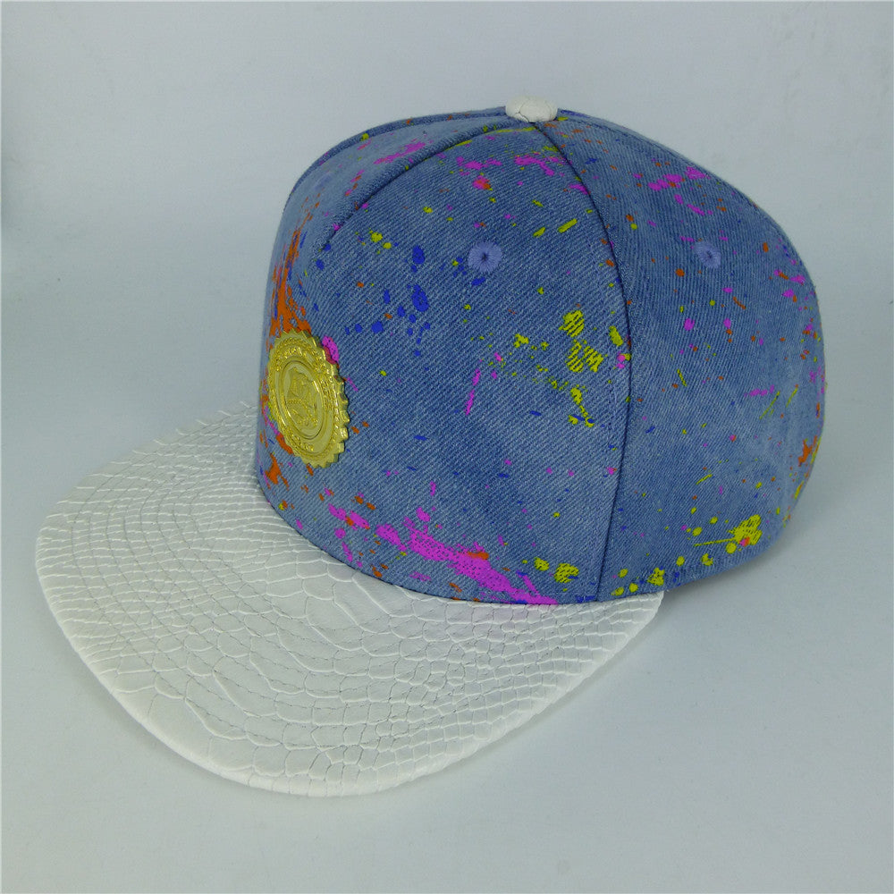 Paint Splatter Cap - Denim