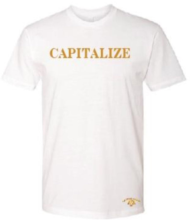 CAPITALIZE T-SHIRT: WHITE