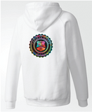 BADGE MULTI-COLOR ZIP HOODIE
