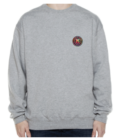 BADGE MULTI OFF CENTRE CREWNECK