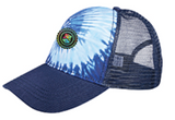 BADGE TIE-DYE TRUCKER HAT | BLUE OCEAN | MULTI