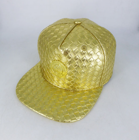 METALLIC BASKET WEAVE - GOLD