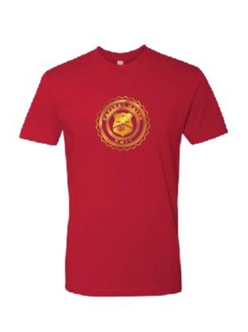 CLASSIC LOGO TEE - RED/GOLD