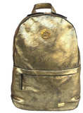 GOLD CRACKLED BACKPACK