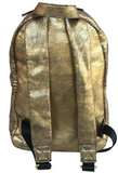 BACKPACK: GOLD CRACKLED