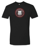 TWO-TONE CLASSIC LOGO BLACK TEE - RED/WHITE