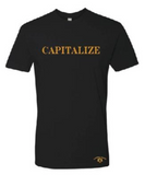 CAPITALIZE T-SHIRT: BLACK