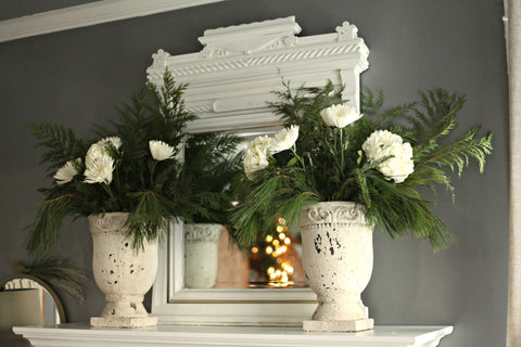Distressed Pedestal Planter - Various Sizes