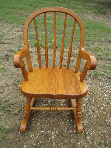 Strange Wonderful Oak Child Size Rocker Rocking Chair Tom Seely Made In U S A Heirloom Quality Guc Onthecornerstone Fun Painted Chair Ideas Images Onthecornerstoneorg