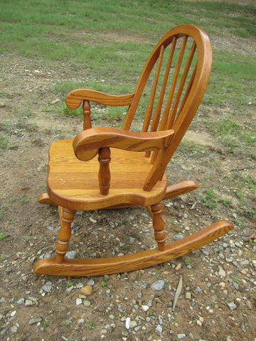 Tremendous Wonderful Oak Child Size Rocker Rocking Chair Tom Seely Made In U S A Heirloom Quality Guc Onthecornerstone Fun Painted Chair Ideas Images Onthecornerstoneorg