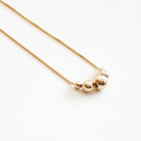 Graduated Necklace  - Gold