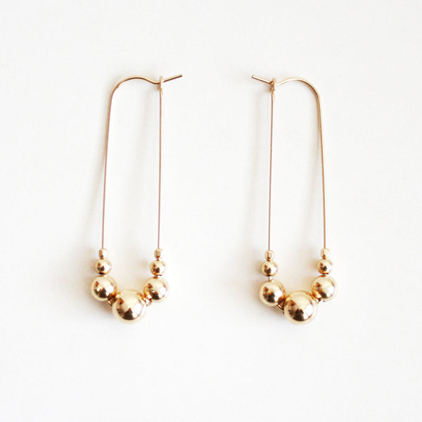 Graduated Hoop Earrings - Gold