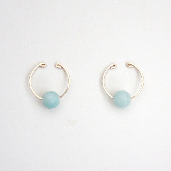 blue gemstone ear cuffs