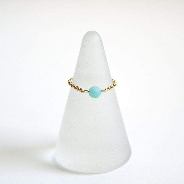 Gemstone Chain Ring [More Colors]