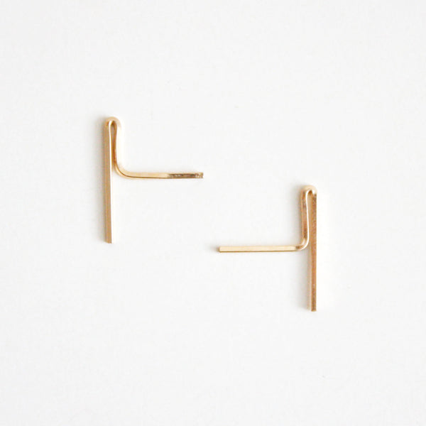 Bar Stud Earrings - Long