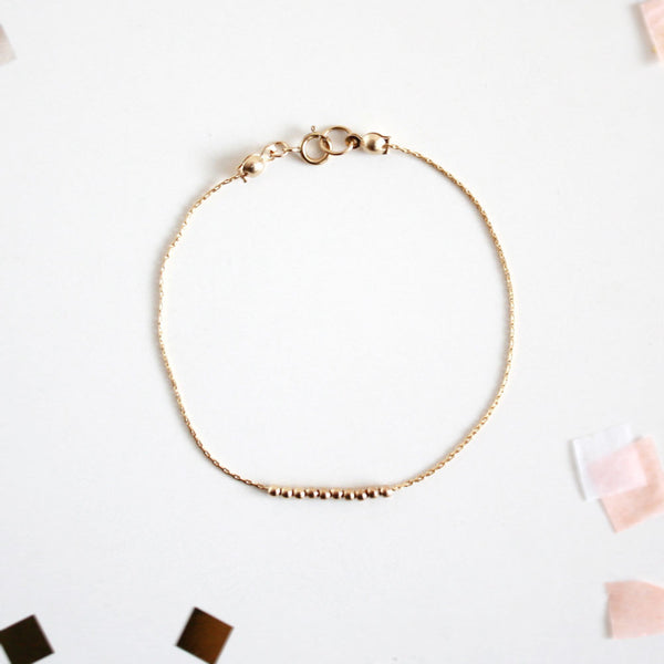 Tiny Beads Bracelet - 14k Gold Filled