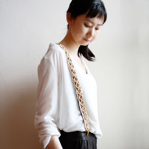 Boho Beads Trim Suspenders