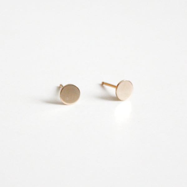 Circle Dot Stud Earrings