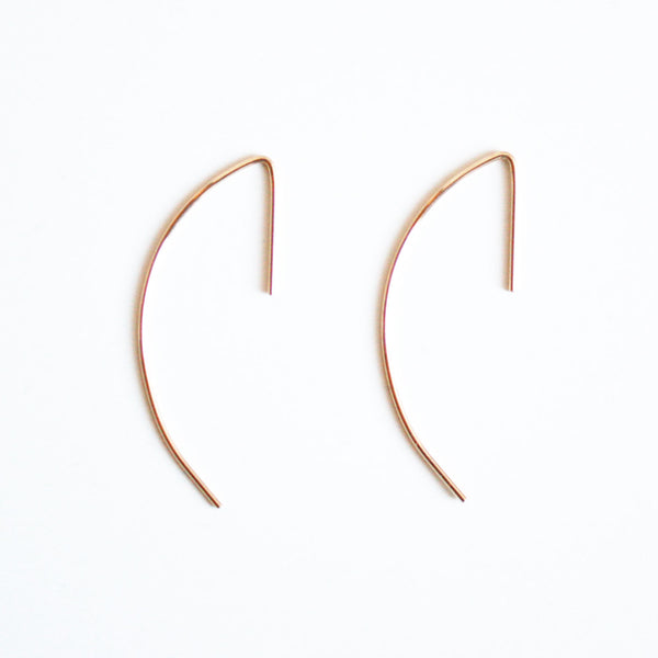 Curved Bar Threader Earrings