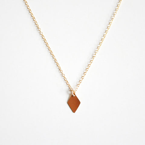 Diamond Shaped Charm Necklace