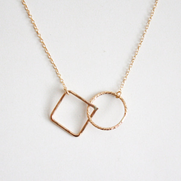 Geometric Necklace - Square