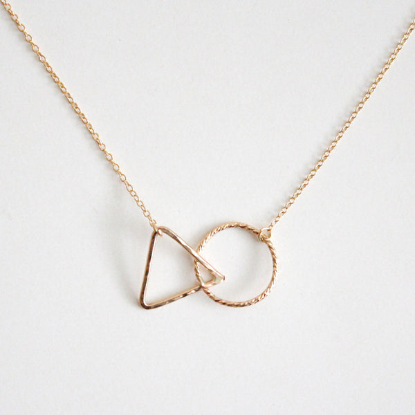 Geometric Necklace - Triangle