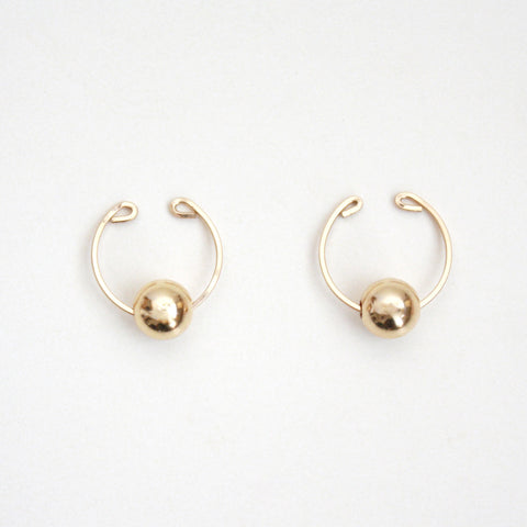 Gold Ball Ear Cuffs