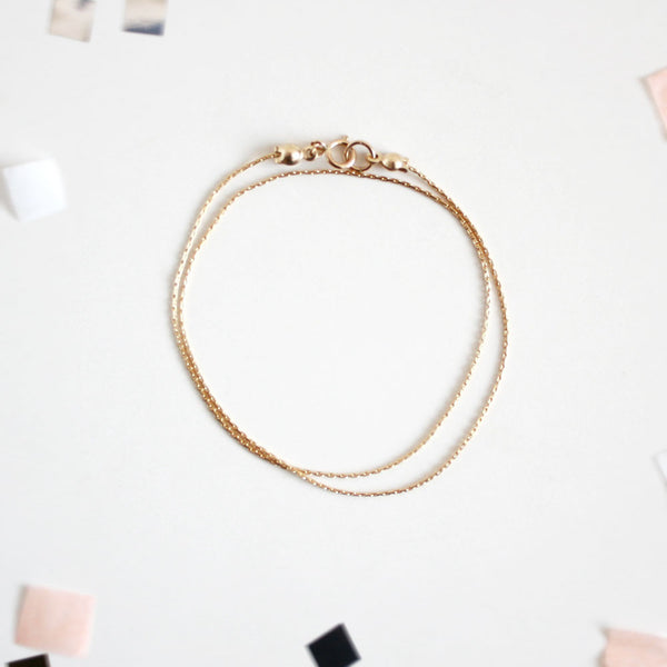 Gold Chain Wrap Bracelet