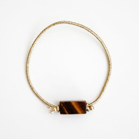 Tiger Eye Gemstone Hair Tie