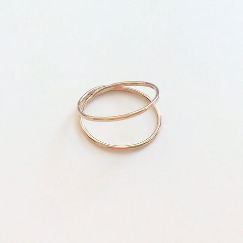 Hammered Ring - Double