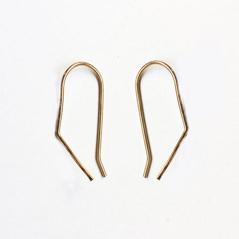 Hammered Threader Earrings - Angle