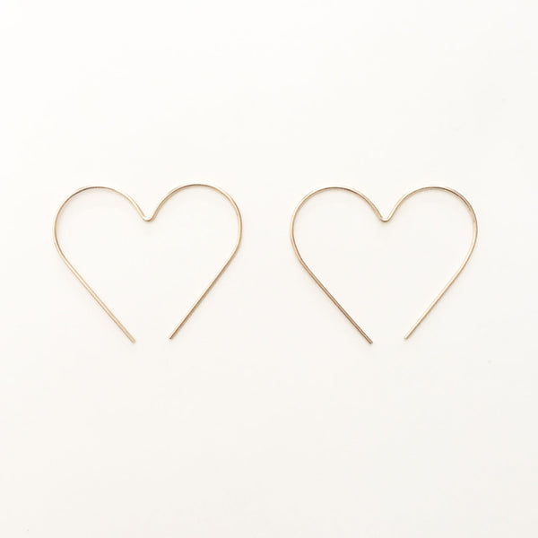 Hoop Earrings - Heart