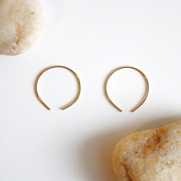 Hoop Earrings - Circle - 14k Gold Filled