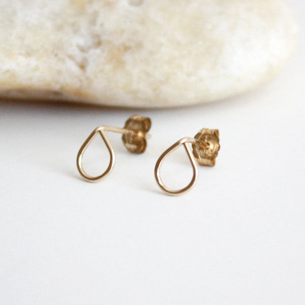 Teardrop Stud Earring - 14k Gold Filled