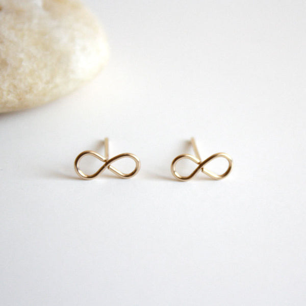Infinity Stud Earrings - 14k Gold Filled