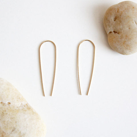 Arc Earrings - Long - 14k Gold Filled