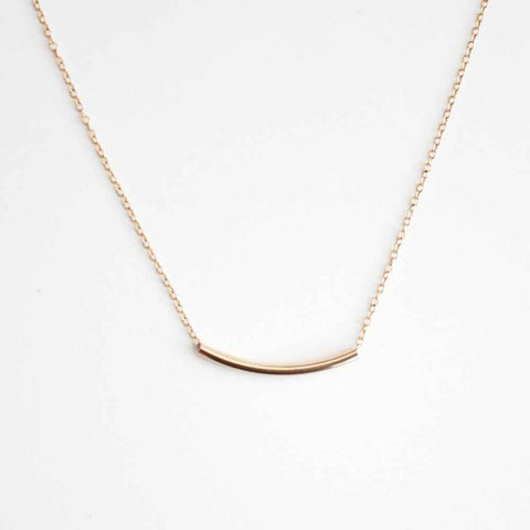Curved Tube Necklace - Long