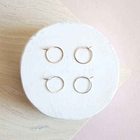 Mini Circle Hoop Earrings
