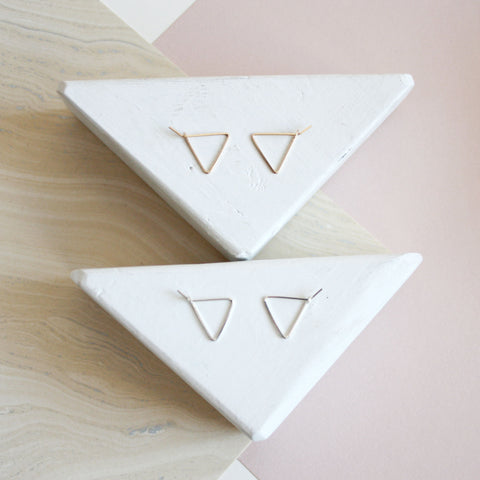 Mini Triangle Hoop Earrings