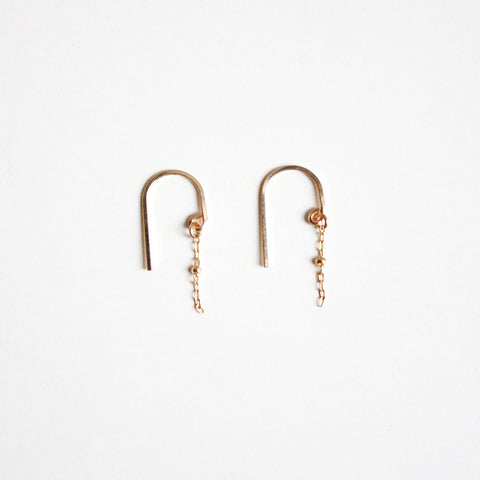 Chain Threader Earrings - Short Arc