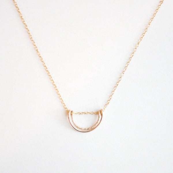 Double Semi Circle Necklace - Small