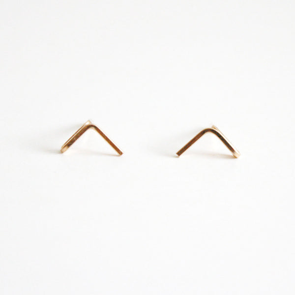 Triangle Bar Stud Earrings