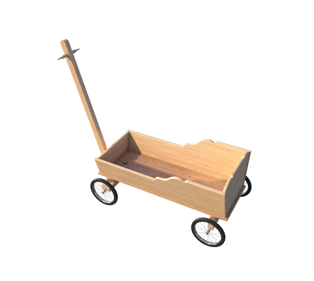 Kids Wooden Wagon Plans Diy Long Reach Handle Toddler Ride Toy Push Ca The Best Diy Plans Store