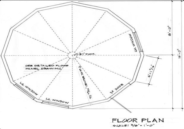 Wooden Yurt Plans DIY Round House Building Project ...