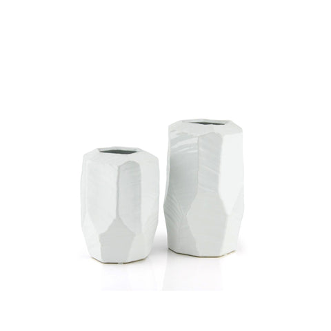 Modern Cutting Vase/White